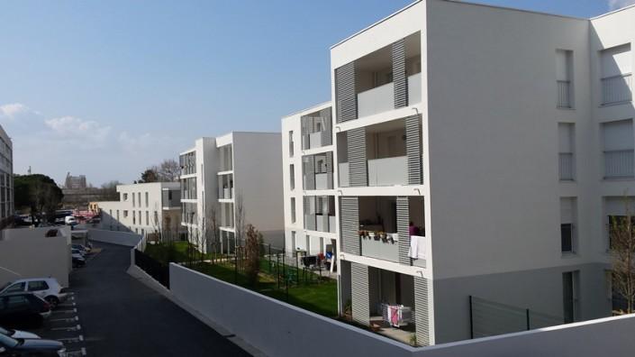 Immeuble le Solaris, 25 logements neufs à l'entrée du quartier de Picon Busserine, conçu par l'architecte MAP.