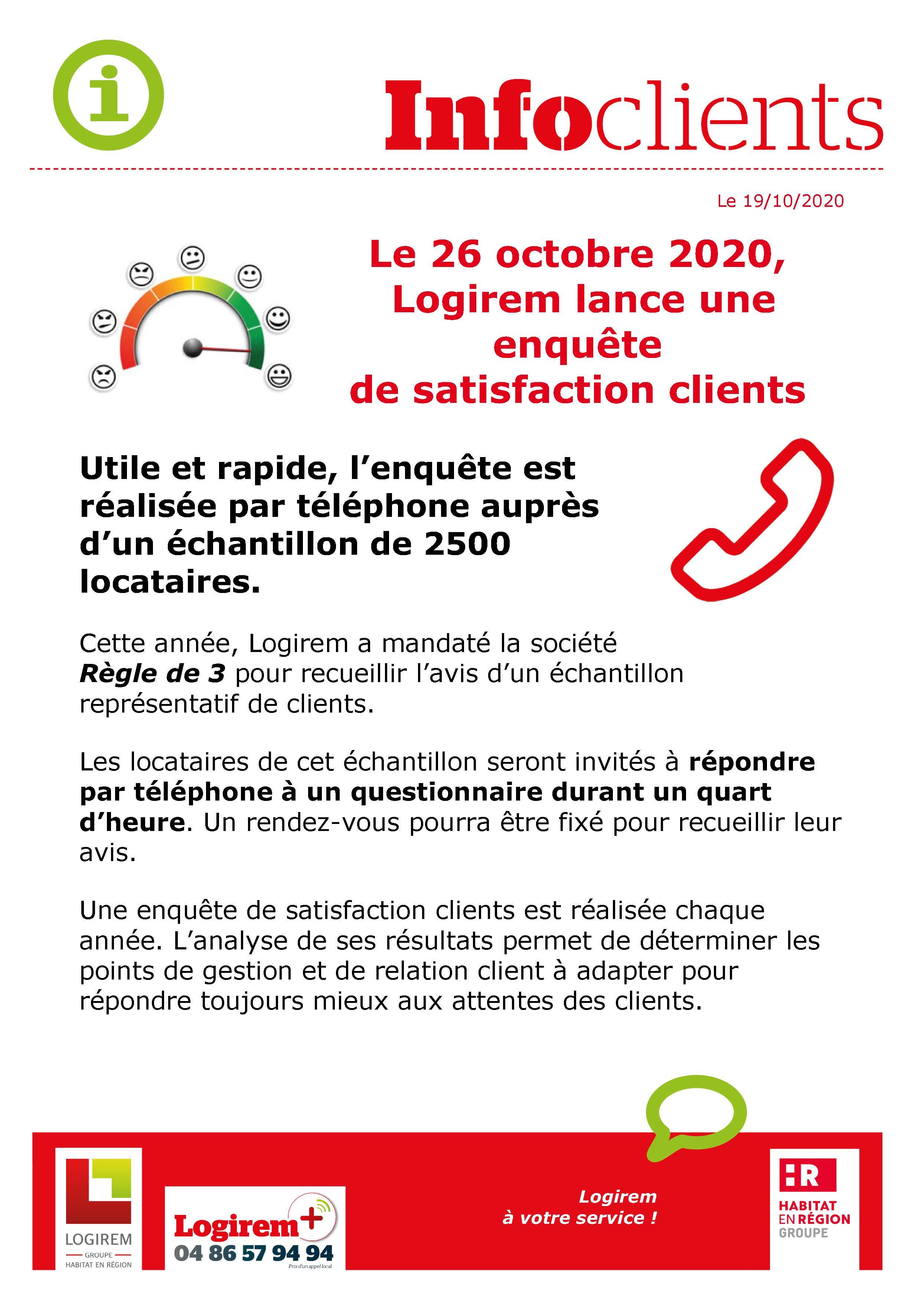 enquête de satisfaction clients 2020