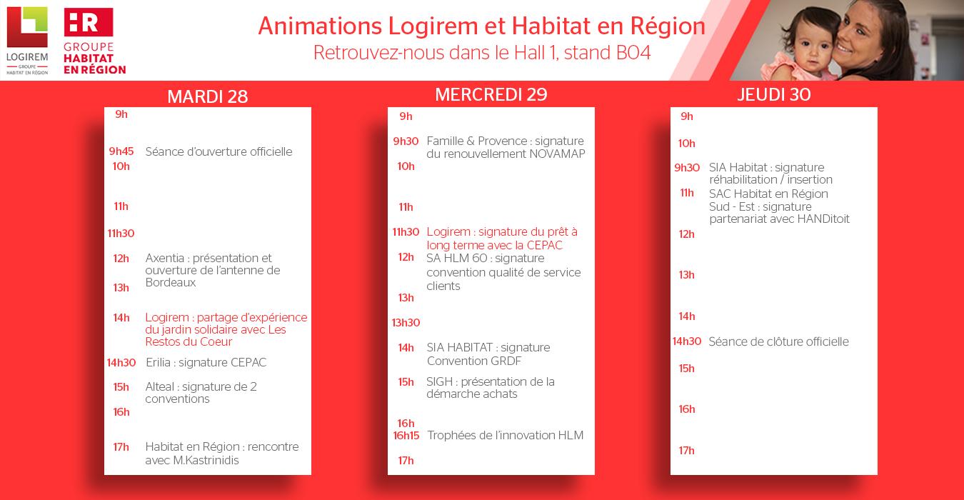 congrès hlm 2021 - planning animations Habitat en région